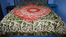 New Om Tie Dye Double Bedspread Throw Hippy Fair Trade Buddhism Hindu Nepal