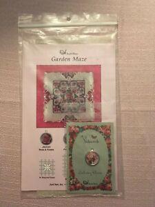 Just Nan Cross Stitch Designs Garden Maze with Embellishments & Linen