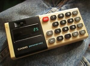 Vintage 70s Casio Personal Mini Calculator Tested Works 30 day guarantee