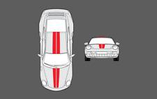 Porsche 911 (997) Bonnet & Roof Double Centre Stripe Decal Graphic Sticker Set
