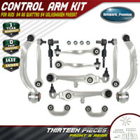 Control Arm Ball Joint Tie Rod Sway Bar Link Kit for Audi A4 A6 S4 Passat 13-PCS