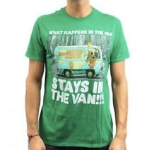 Scooby Doo - What Happens In The Van Stays - Mens 2X-Large Green T-Shirt  2XL