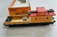 Arnold Rapido 0473 N Scale Train M of W Yellow Flat Car w Boxcar NIB