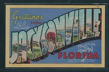 """Large Letter Postcard - Florida - """"Greetings From Jacksonville"""""""
