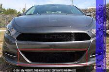 GTG 2013 - 2017 Dodge Dart 1PC Gloss Black Overlay Bumper Billet Grille Grill
