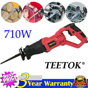Electric Reciprocating Recip Recharge Sabre Saw Wood Metal Cutting with 4 Blades