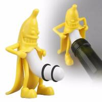 Wine Stopper Bottle Protect Kitchen Bar Creative Evil Banana Eco Friendly Bottle