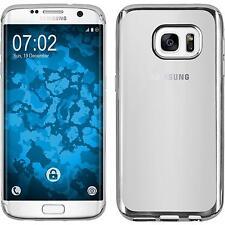 Silikon Hülle für Samsung Galaxy S7 Edge silber Slim Fit Case