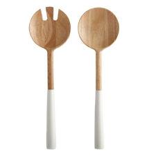 2pc Maxwell & Williams Mezze Salad Serving Set Kitchen Spoon/Fork Servers White