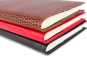 Deluxe A5 Croc Grained Leather Refillable Journal Notebook Cover Gift Diary New