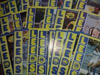 Leeds United HOME programmes 1982/83 and 1983/84