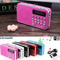 3.5 mm Mini Digital Portable Music MP3 Player Micro SD/TF Card Speaker FM Radio