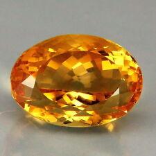 TOP MADEIRA CITRINE : 15,52 Ct Natürlicher Gold Orange Citrin aus Brasilien