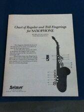 Selmer Saxophone Finger Chart
