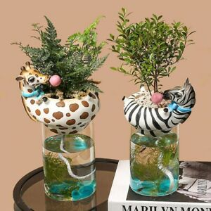 Modern Design Decorative Flower Pot With A Fish Tank For Home Decor