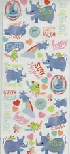 Recollections RHINO themed~flat stickers~Adorable! QUICK SHIP!