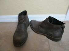Diesel Distressed Suede Leather Ankle Boots For Men Size 10.5 Eur 44