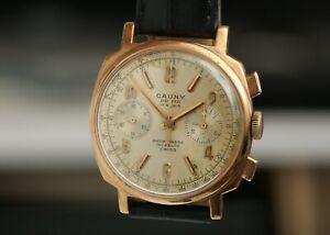 """Cauny chronograph vintage! """"Camaro"""" Big 36mm case! Landeron 248 movement!"""
