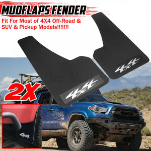 For Toyota Tacoma 4Runner Carbon Front Rear Mud Flaps Splash Guards Mudgurads 2X