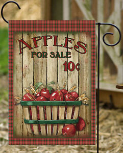 Apples in Basket - Double Sided Soft Flag  **GARDEN SIZE**   FG1183