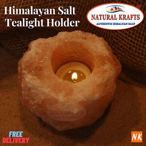 Himalayan Salt Candle Tealight Holder 1 Pc Pink Salt Tealight Natural Rock Stone