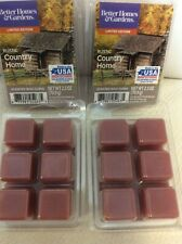 Better Homes & Gardens 4 Boxes Rustic Country Home Scented Wax Cubes Melts