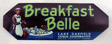 VINTAGE UNUSED BREAKFAST BELLE CITRUS CRATE LABEL
