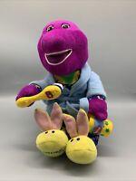 "RARE USA Fisher Price Barney Dinosaur Plush Brush Your Teeth Singing Dancing 10"""