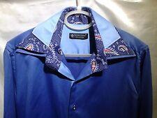 Daniel Rosso Diseñador Botones camisa manga larga calce ceñido cuello doble