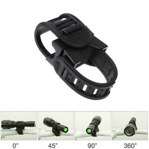 Cycling Bicycle Bike Mount 360° Holder LED Flashlight Torch Clip Clamp Black