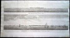 Antiguo Mapa, cabo blanco teniendo S.w. lejano 5 Ligas / Capa Blanco …