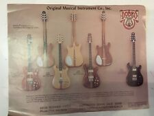 DOBRO Guitarras-Antiguo Folleto-tamaño A4.