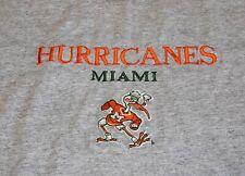 Vtg Miami Hurricanes Embroidered Patch Sebastian Pipe Smoking Logo Shirt XL/XXL