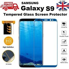 100% GENUINE 3D Curved Tempered Glass Screen Protector for Samsung S9 Coral Blue