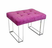 Infinity Style Pink Velvet & Lucite Bench, Acrylic Bench, Pink Velvet Bench