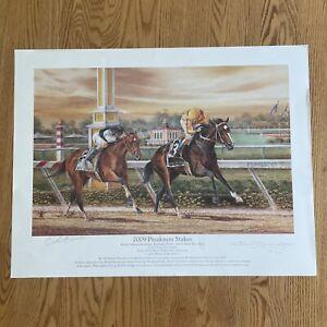 Michael Geraghty /2009 Preakness Stakes / Signed & by Jockey / 133/500 LTD Print