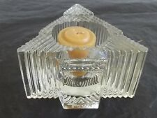 Vintage Avon Candle holder Glistening Tree w/ candle 1981 Clearfire Transparent