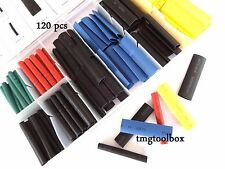 120 PC TUBING  HEAT SHRINK ASSORTMENT,ELECTRICAL,INSULATION,CABLE BONDING WIRE