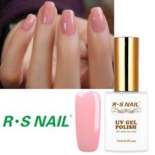RS Nail Gel Nail Polish UV LED Hybrid UV Gel Semitransparent Pink Colour 0.5oz