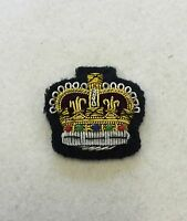 Black Staff Sergeant Crown, Colour Sgt Mess Dress Badge, Army, Military