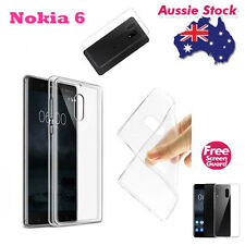 Crystal Clear TPU Gel Jelly Case Cover For Nokia 6 Free Screen Guard