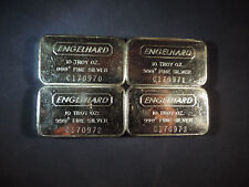 ENGELHARD FOUR 10 OZ 999+ F.S. BARS NUMERICAL ORDER FREE SHIPPING AND INSURANCE