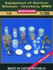 Plus Model 116 - 1:3 5 Resin Kit Kitchen Accessories Germany WWII