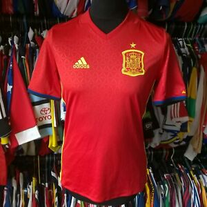 SPAIN 2016 HOME FOOTBALL SHIRT ESPANIA ADIDAS JERSEY SIZE ADULT XS