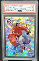2018 Bowman's Best ATOMIC REFRACTOR Nats JUAN SOTO RC Card PSA 10 GEM MINT Pop21