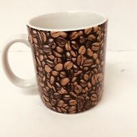 Starbucks Coffee Mug Cup Coffee Beans Brown 16 Fl OZ 2007 rare