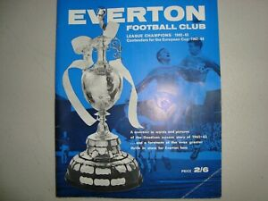 Official souvenir for Everton for their League Championship in 1962-63
