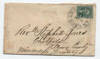 1859 Santa Clara CA #35 cover to Minnesota Territory [y4680]