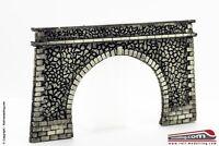 RAIL-MOD 00212 - H0 1:87 - Portale galleria ferroviaria in mattoni e pietre per