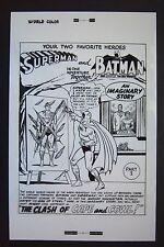 Original Production Art World'S Finest #153 splash page, Curt Swan art